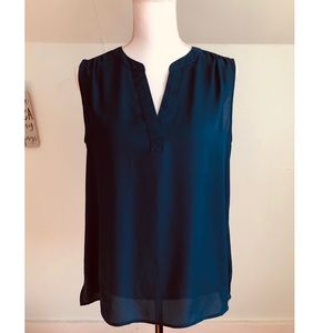 Chaus Teal Sleeveless Blouse